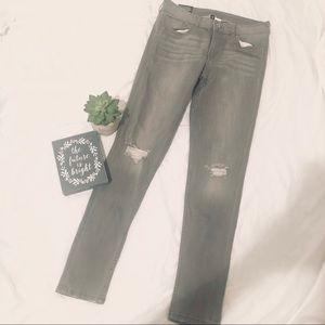 H&M grey super Skinny Regular Waist Ankle Jeans